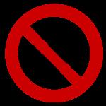 No ticks sign