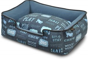 P.E.T.S. Natural Dog Bed, blue pattern make great Christmas presents for dogs