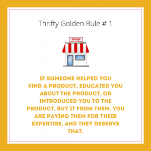 Thrift Pet Ownership Golden Rule #1