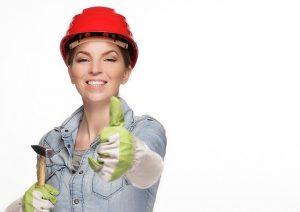women carpenter by Angelo Esslinger