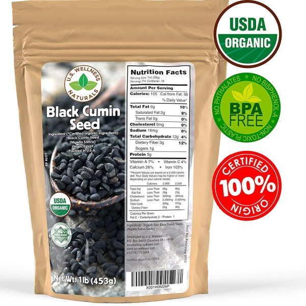Wellness Naturals organic black seed