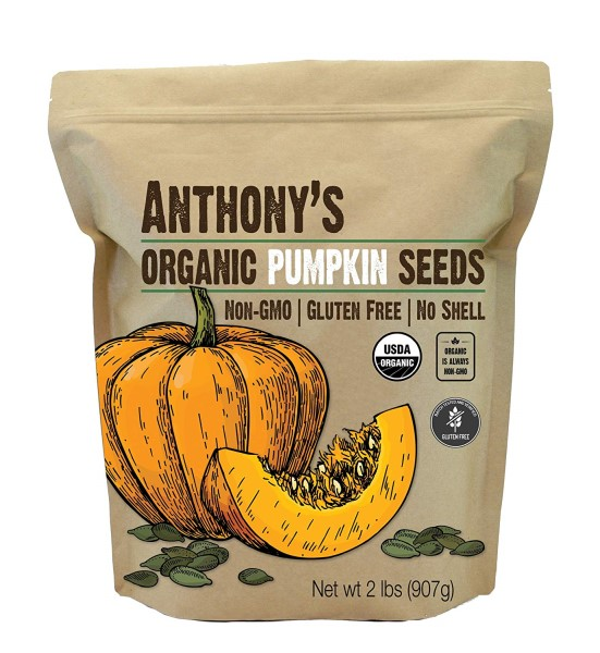 Anthonys Organic Raw Pumpkin Seeds natural dewormer for dogs